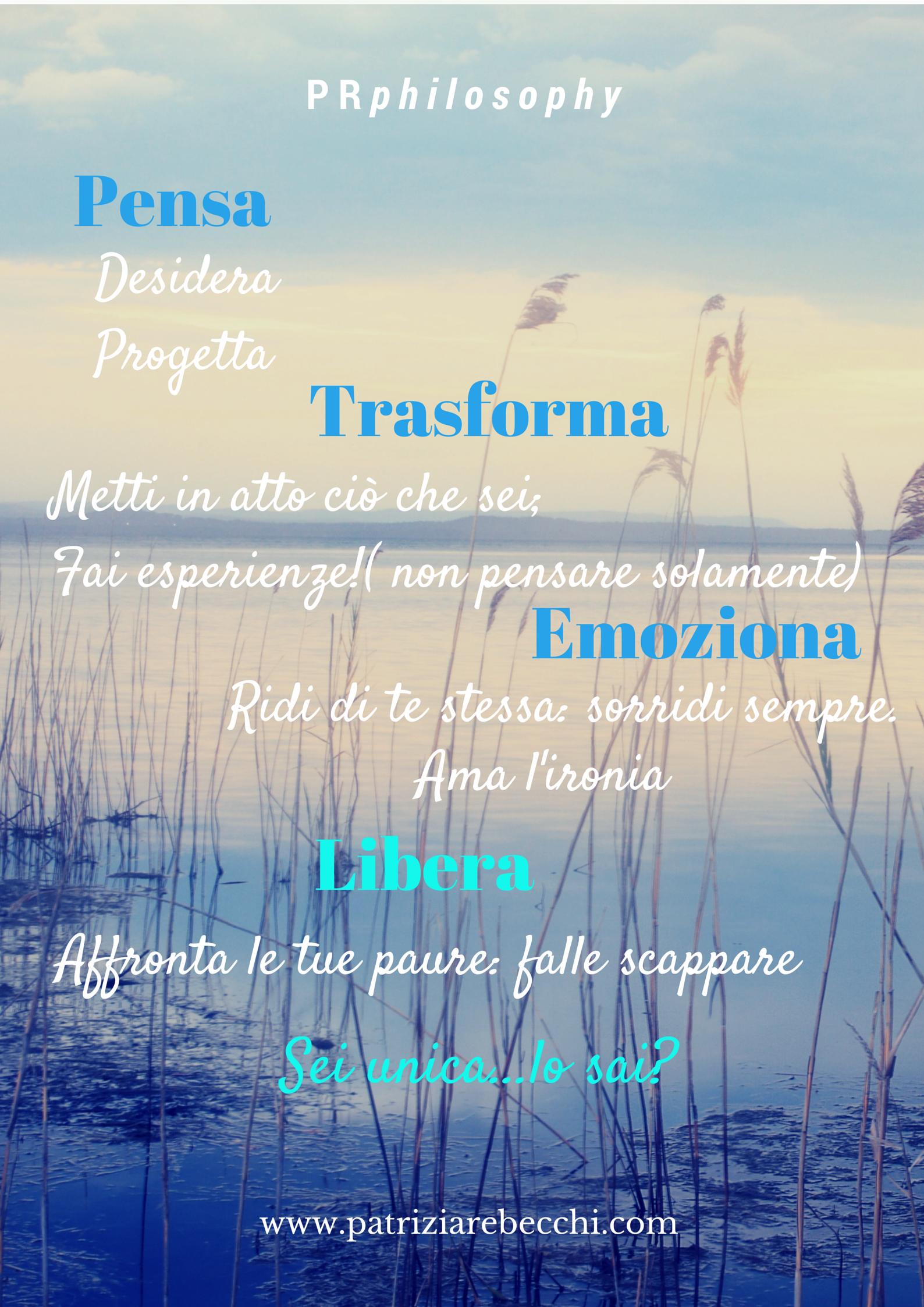 elenco di valori e input del brand Patrizia Rebecchi