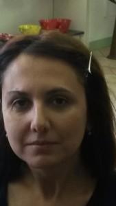 il viso di Donatella non truccato
