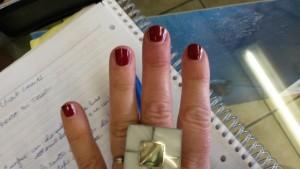 nails color trend : marsala