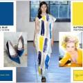 combinazione palette colri primavera estate 2016: blu + giallo