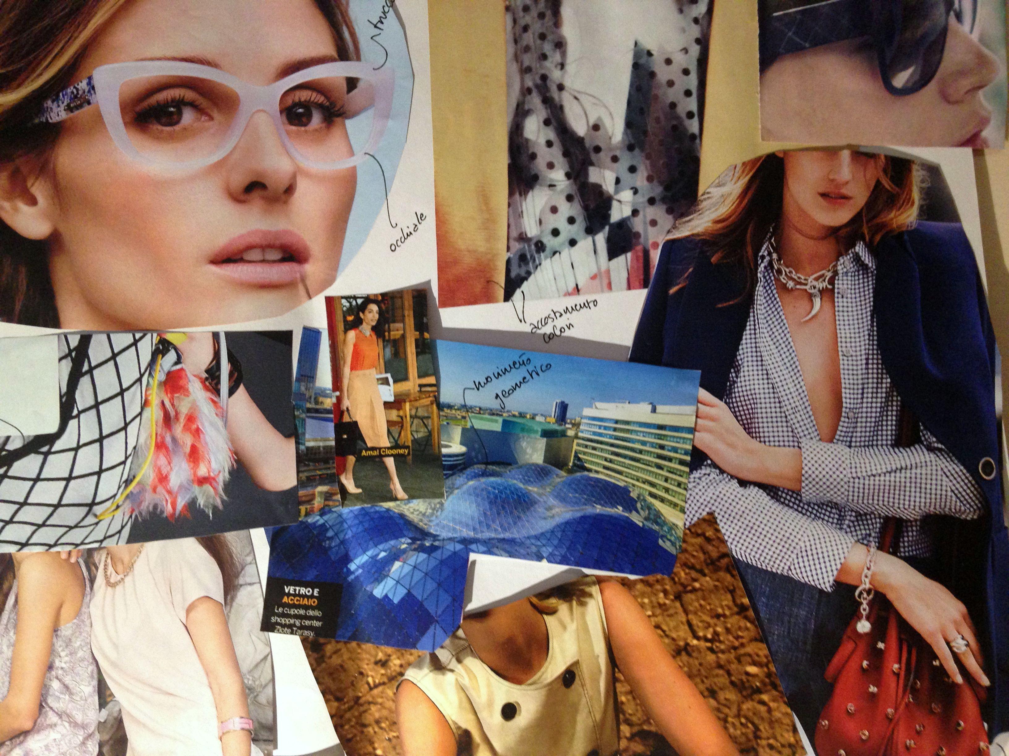 collage di immagini per creare lo stile lavorativo di Cinzia