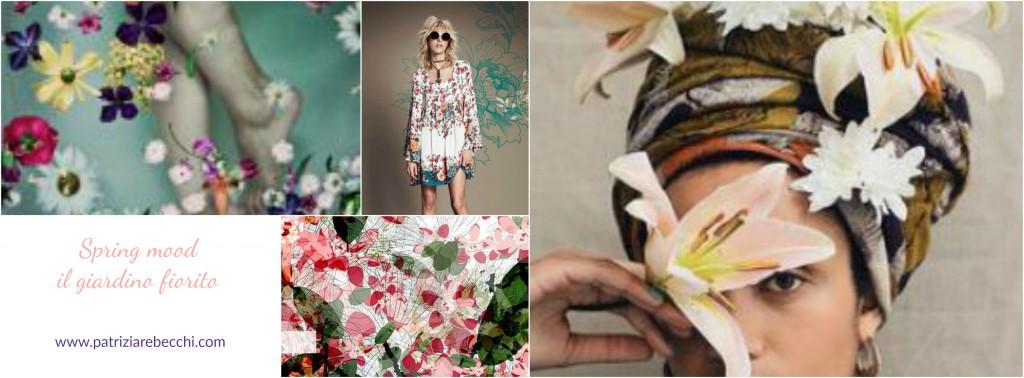 collage di immagini con fiori