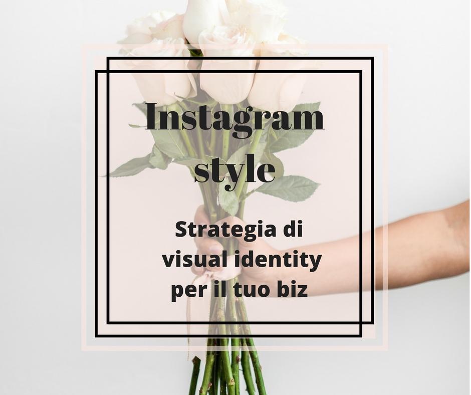 instagram stle e visual identity